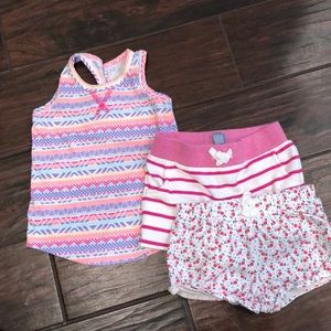 SUMMER LOT SIZE 3T TANK TOP AND SHORTS